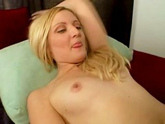 Round ass blonde Ariel Summers rides dick while dude fingers her ass