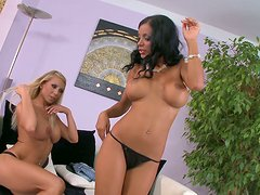 Boobs touching. Candy Strong and  Kyra Black playing soft