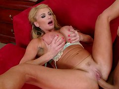 Taylor Wane gets fucked and palms her big melons