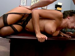 Rachel Starr working hard today getting fucked on the boss's table
