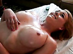 Krissy Lynn Get Her Boobs Rub Too Hard On Bed