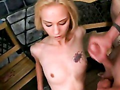 Blonde Babe Jeanie Marie Receives A Warm Ooze Of Cum On Her Chest