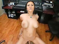 Big Titted Austin Kincaid Humping Her Pussy On A Long Rod