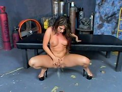 Britney Stevens seduces a fireman and sucks his dick