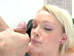 Pale skin slut Zoey Paige gets poked hard in a missionary position on a casting session