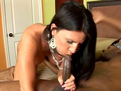 Brunette MILF Kendra Secrets sucks and rides massive BBC