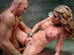 Naughty Courtney Cummz gets punished hard by Johnny Sins