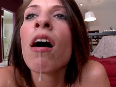 Long haired nympho Ashley Storm prefers a stout and tough anal fuck
