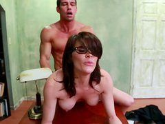 Slutty and slim teacher Dallas gets fucked doggy toughly