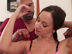 Cute and beautiful Jada Stevens wants to try this dude in bed