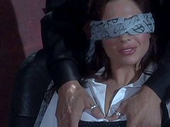 Kinky Kirsten Price gets blindfolded and pleased by a stranger guy