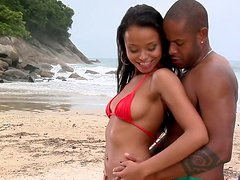 Black beauty princess Marcella Moraes loves to get eaten from behind