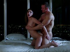 Brawny guy having a hot sex with delicious woman Aubrey Addams