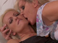 Two horny ladies Stormy Daniels, Julia Ann eat each other's pussies