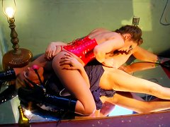 Nasty bitches Tyler Faith and Kiera King are playing dirty games on a mirror