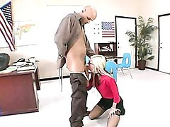 Blonde Chick Christine Alexis Whacks Her Mouth With A Thick Cock