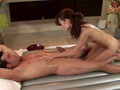 Skinny petite chick Zoe Voss blows cock in the bathroom