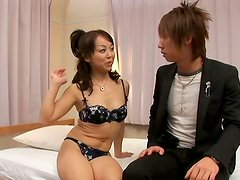 Sex hungry Asian slut Hiroko Akaishi get drilled from behind