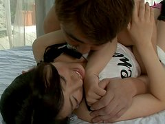 Appetizing chubby teen Yuri Hirayama gets her both holes eaten