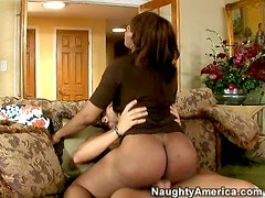 Dark booty angel Ayana Angel rides big cock