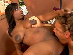 Gorgeous Jada Fire with big boobs is poked on her office table