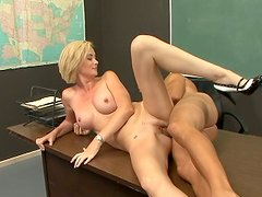 Strict school teachers like Camryn Cross also love sex and young cocks