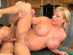Unstoppable blonde milf Mishka is flexible in fuck positions