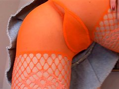 Check out this horny teen's cute cameltoe under her skirt