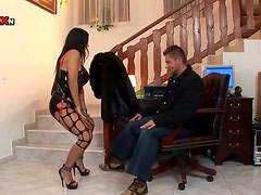 Anal Creampie and Fucking for Brunette MILF in Slutty Outfit Cory Everson