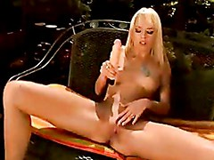Blue Angel Masturbates Her Cunt With A Rubber Toy