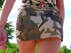 Horny voyeur is horny and eager