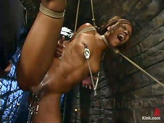 Marie Luv gets tied up and mouth-fucked in some filthy place