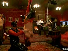 Krysta Kaos gets humiliated and fucked in public in BDSM vid