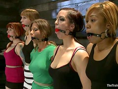 Five chicks get tormented in BDSM scene and enjoy it much