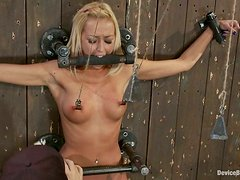 This kinky blond babe can stand any kind of humiliation