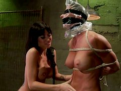 Severe Lesbian Domination and Strapon Fucking in BDSM Clip