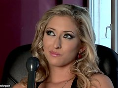 Sensual Blonde Babe Karina Shay Talks About Her Life