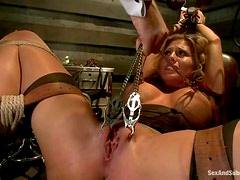 Charisma Cappelli gets tortured and fucked in awesome BDSM clip