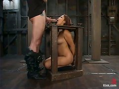 Jazmine Leih gets chained and fucked hard in BDSM clip
