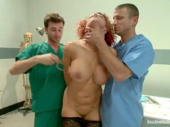 James Deen and Mr. Pete double penetrate some slutty chick