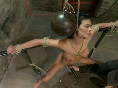 Bailey Brooks the kinky brunette gets tied up and choked