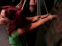 Divine redhead Kaydence loves being objected for BDSM