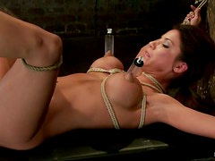 Aleksa Nicole Getting Toyed and Spanked in Bondage Clip
