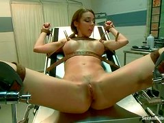 Hot Tiffany Tyler gets humiliated on a medical chair