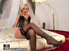 Sweetest drug Gina B can seduce any men with her hot legs