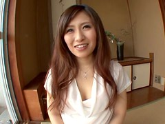 Shy Erika Inamoto gives passionate blowjob to her Master