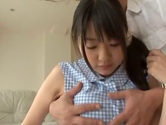 Petite chick Tsubomi is taking her man for a hot ride