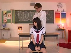 Uruha Mizuki the babe in school uniform gets pounded