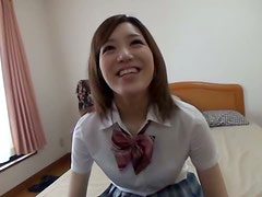 Miyabi Tsukiok lets some guy touch her body in the shower