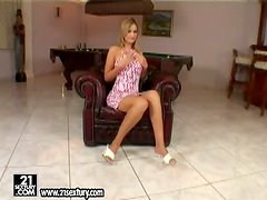 First time solo action by sexy blondie Avril